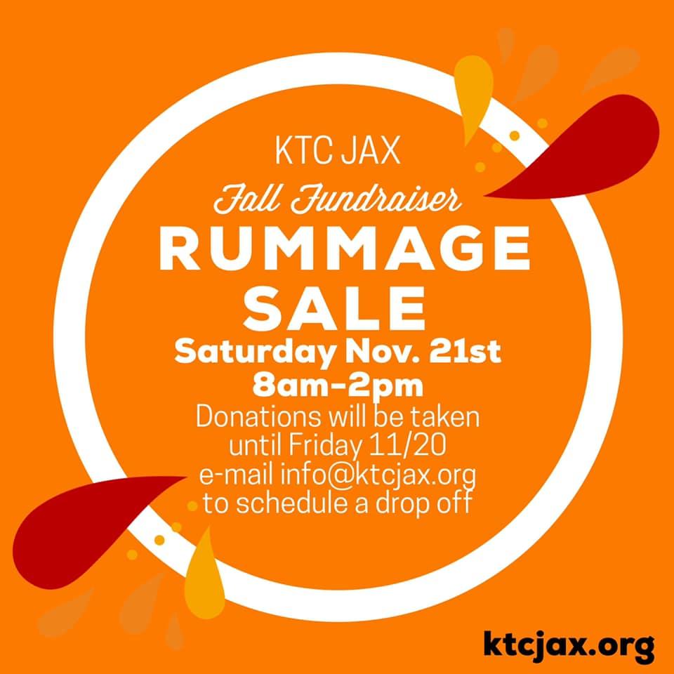 KTC Jax Fall Fundraiser Rummage Sale