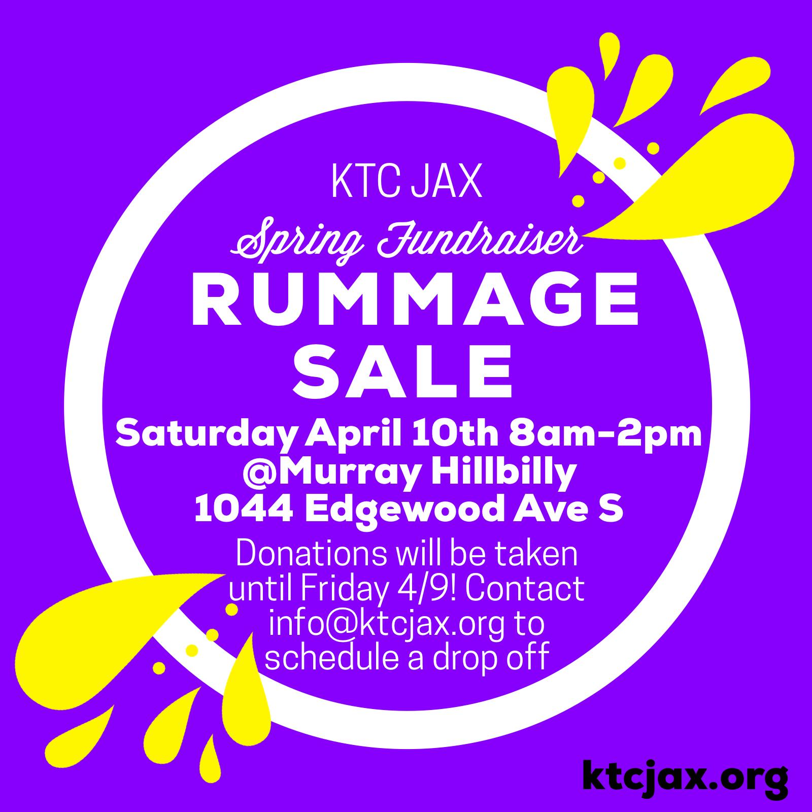 Annual Spring Rummage Sale Saturday April 10th 8a-2pm